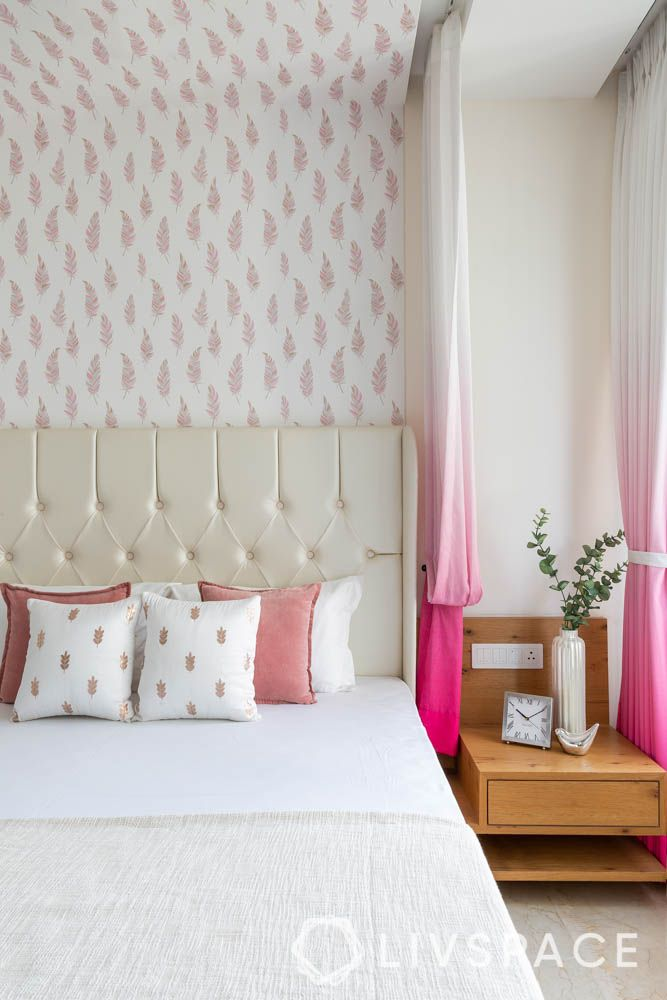3bhk-house-design-master-bedroom-ombre-curtains