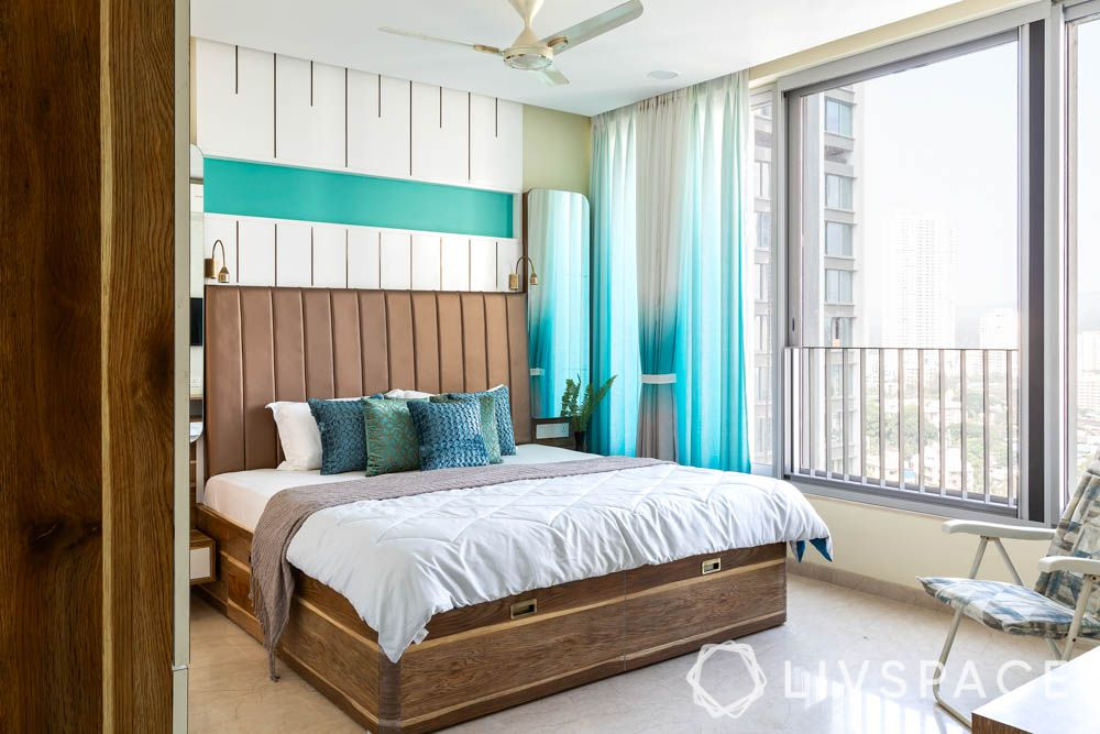 3bhk-house-design-bedroom-wooden-bed
