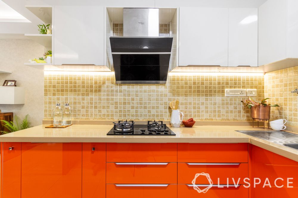 vastu shastra tips-orange kitchen