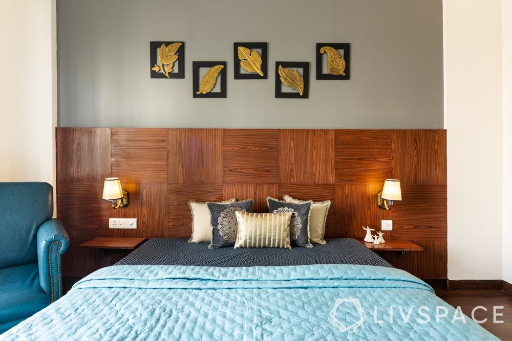 Wall design ideas-wood panelling-master bedroom