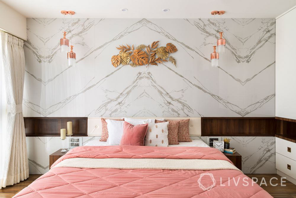 Wall design ideas-marble wall-master bedroom