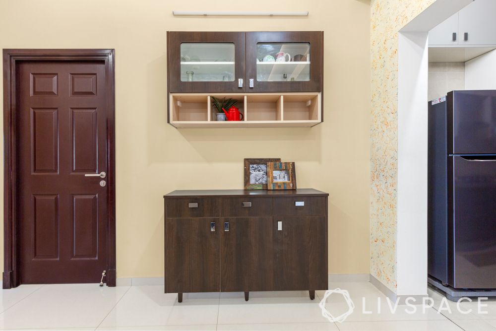 best interiors in bangalore-TV unit-pooja unit-coffee table design-crockery cabinet