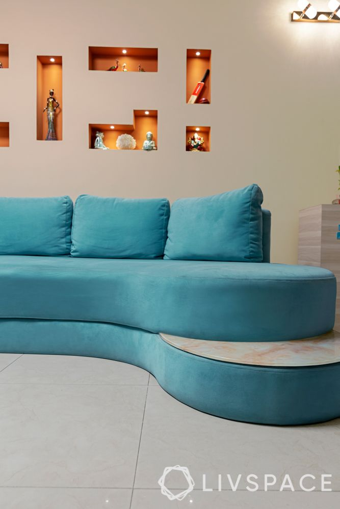 blue sofa designs-s shaped sofa