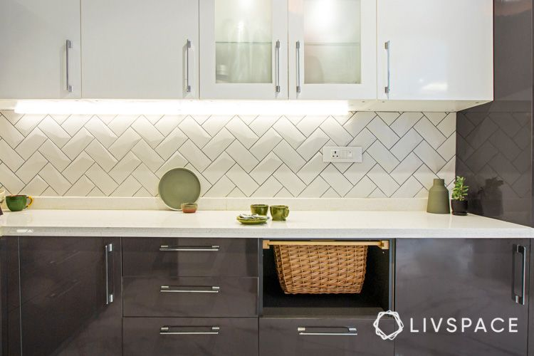 how to clean house-kitchen cabinets-white and grey cabinets-subway tiles