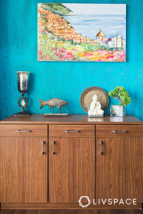 how to clean house-blue paint-wall art-cabinet designs