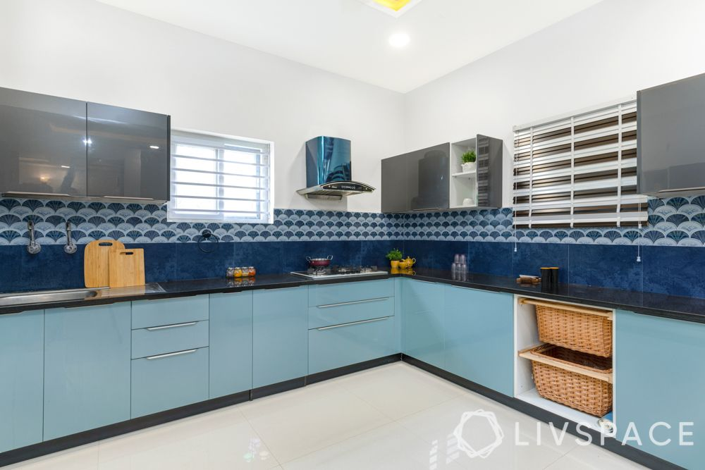 villa design-blue kitchen designs-blue kitchen cabinets