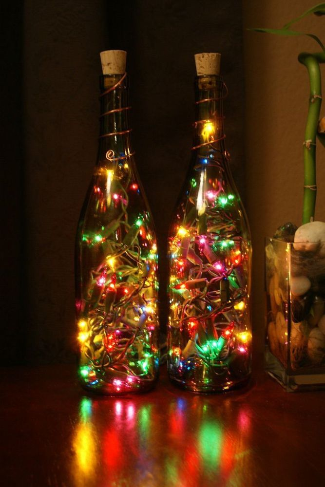 diy ideas for the home-glass bottles-string lights