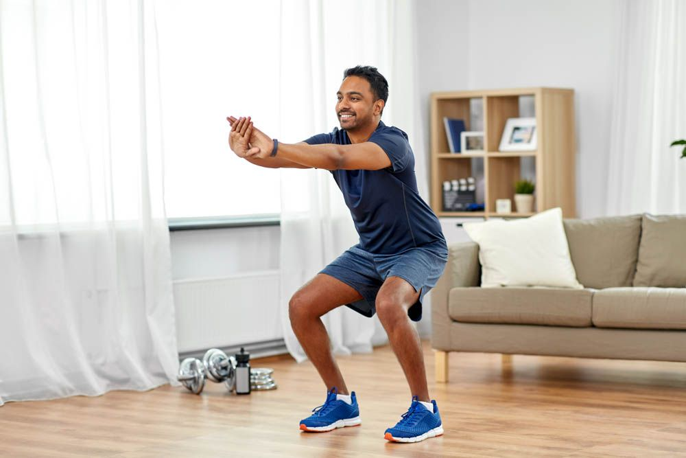 working from home tips-exercise at home