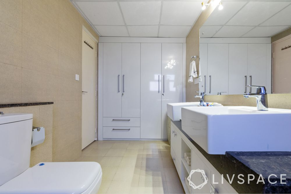 interior design company in gurgaon-laminate wardrobes-bathroom storage