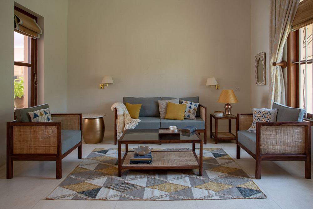 room furniture-rattan-wall sconces-lamps-rug