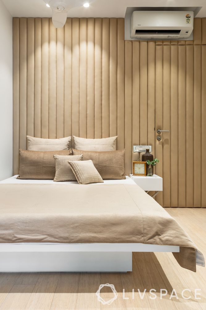 Guest bedroom-panelling-floating bed