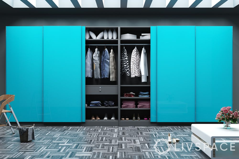 hinged or sliding doors-sliding wardrobe designs-blue wardrobe designs