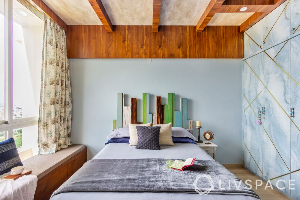 wooden false ceiling ideas-ceiling rafters