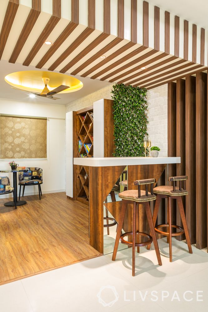 breakfast counter-stools-ceiling design