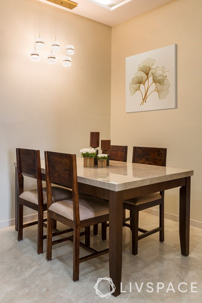 Indian marble and Italian marble-dining tabletop-cream marble