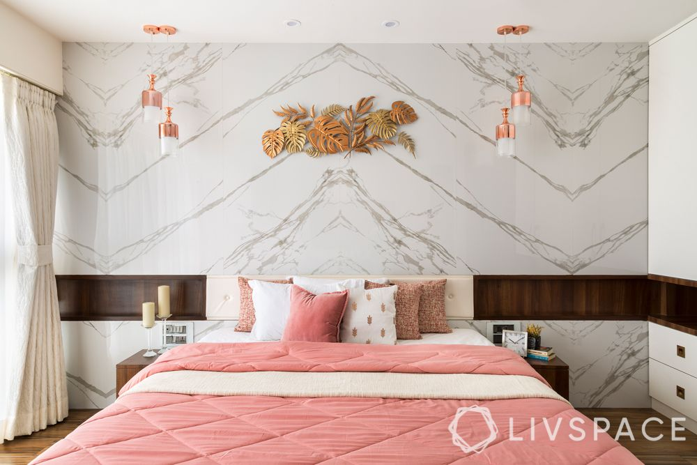Indian marble and Italian marble-laying cost-marble headboard wall