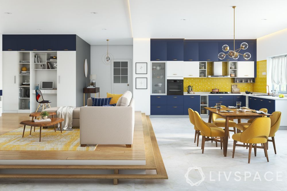 hall dining partition-wooden steps-living-dining