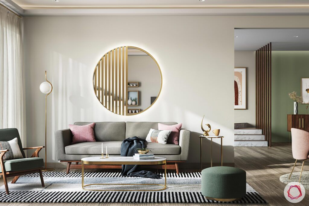 small condo design-living room-mirror on the wall-contemporary look