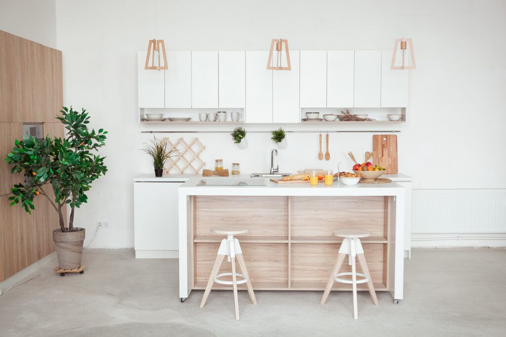 space-saving ideas-open kitchen-breakfast bar-seating