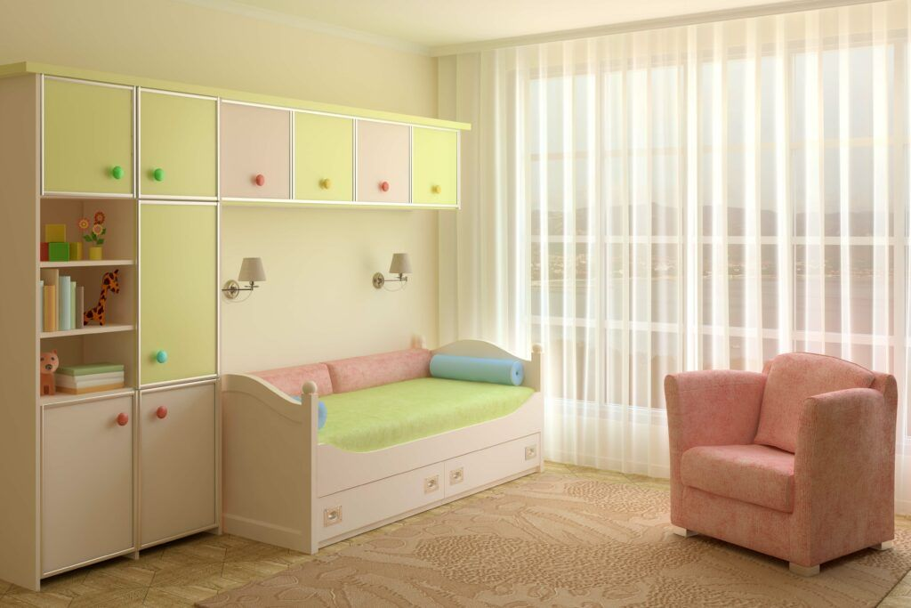 kids room-bed with storage