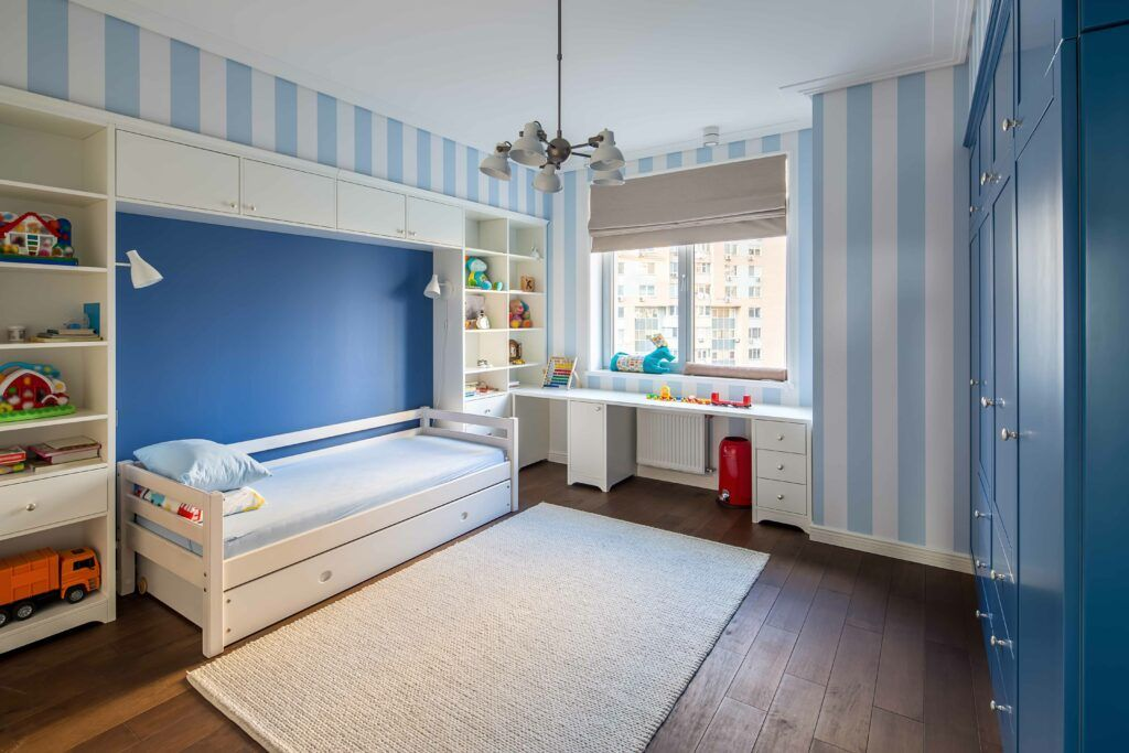 space-saving ideas-kids room-storage-study niche