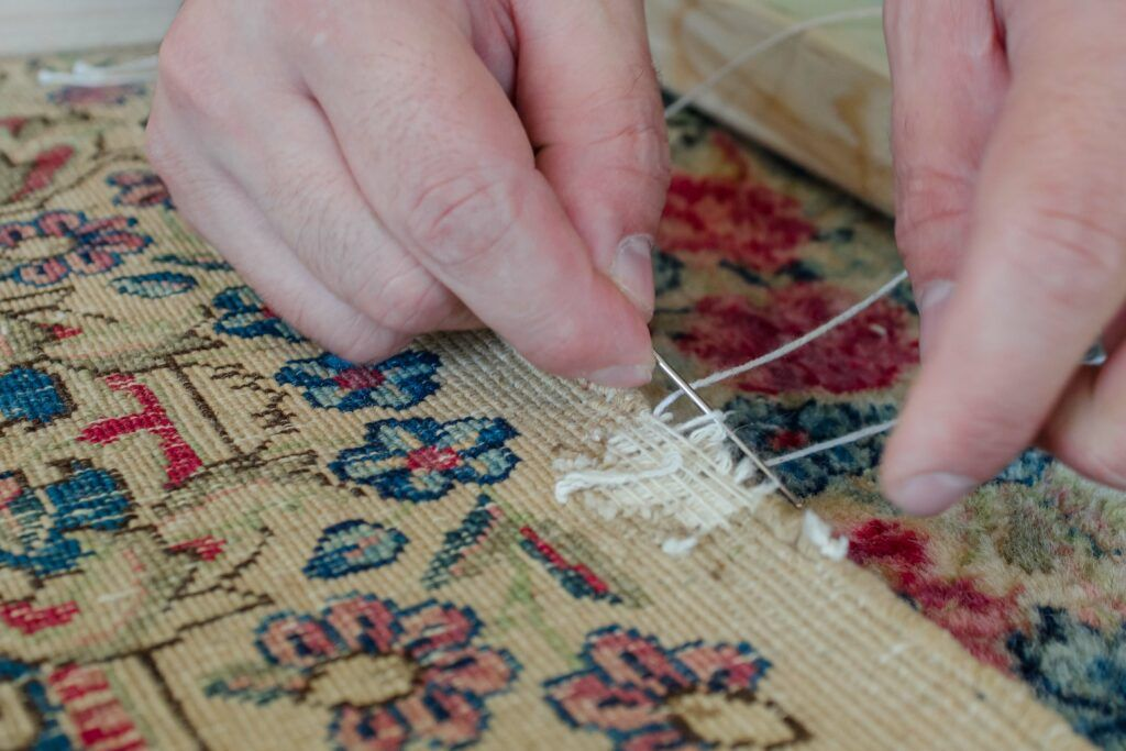 feng shui tips-mending torn rug-stitching rug