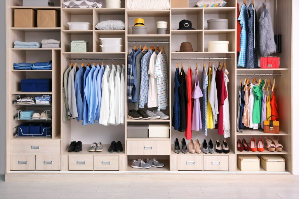 wardrobe-organised well-folded clothes