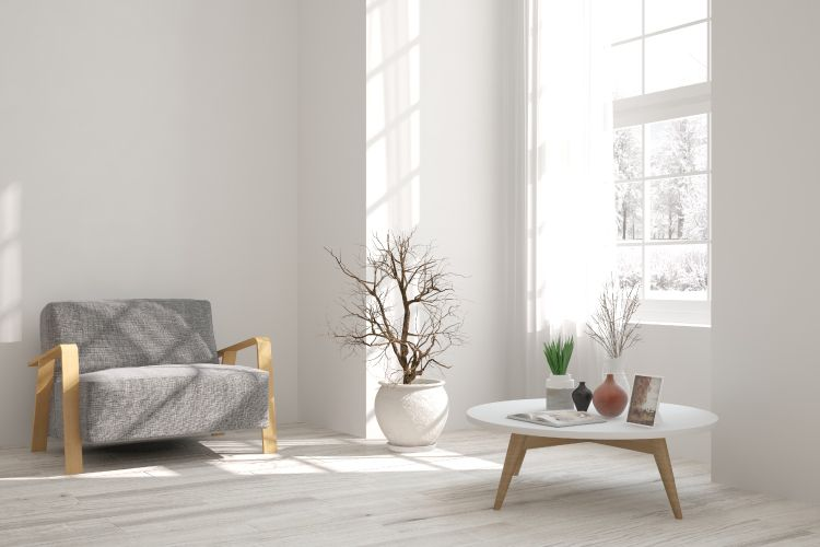 grey chair-coffee-table-planters