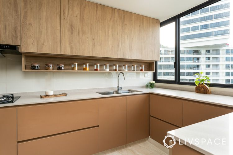 Condo renovation kitchen cabinets laminates