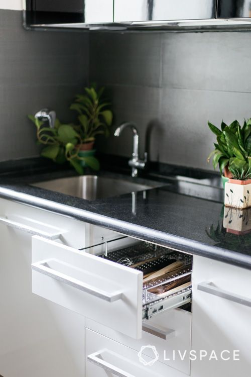 black and white kitchen-kitchen sink designs