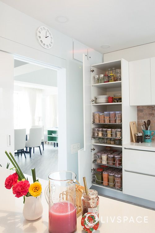 pantry pull-out designs-white kitchen designs