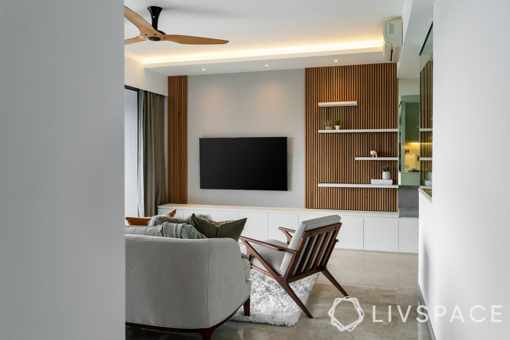 living room lighting ideas-profile lighting-tv unit