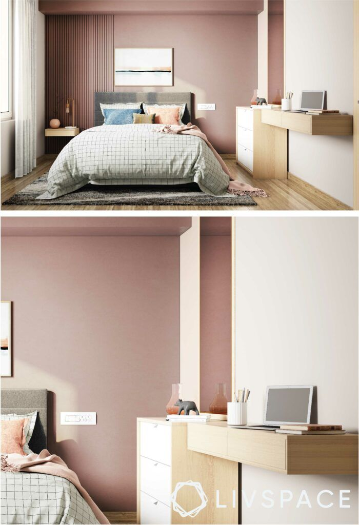 lavender-room-wall-mounted-study-table