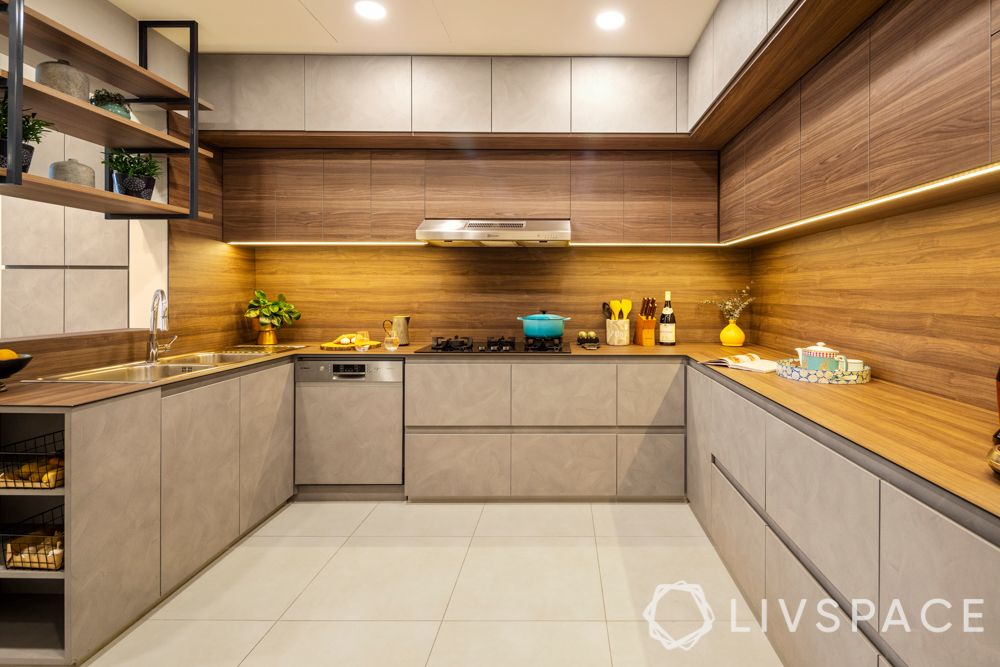 kitchen with island-u shped kitchen-
