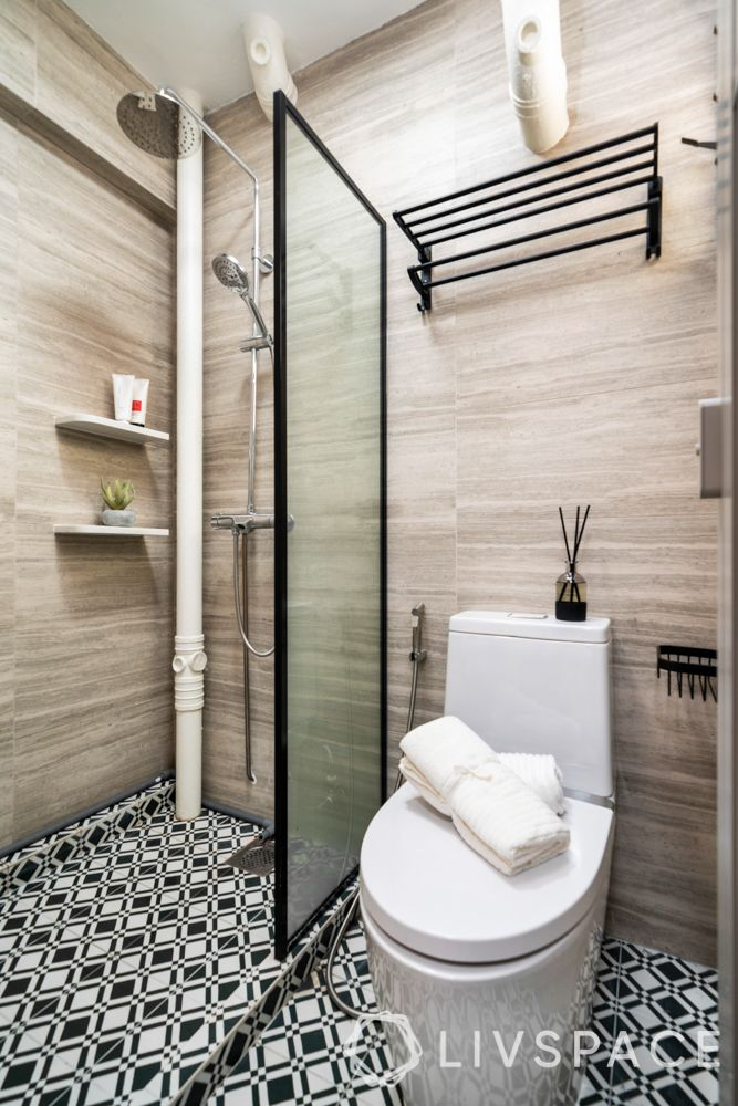 design for small house-cabinet-shower-wet zone-mirror-sink