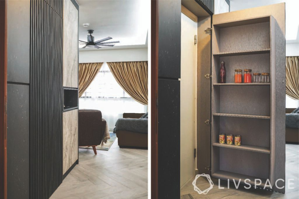 3 room bto design-concealed storage-fluted wall panels