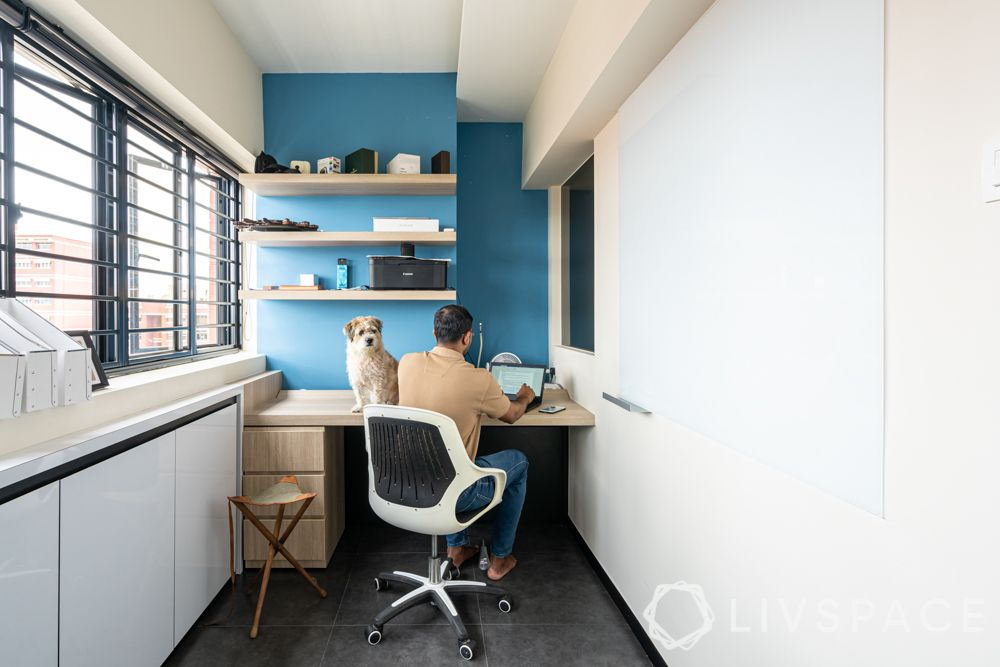 future-of-interior-design-after-covid-19-home-office-man-dog