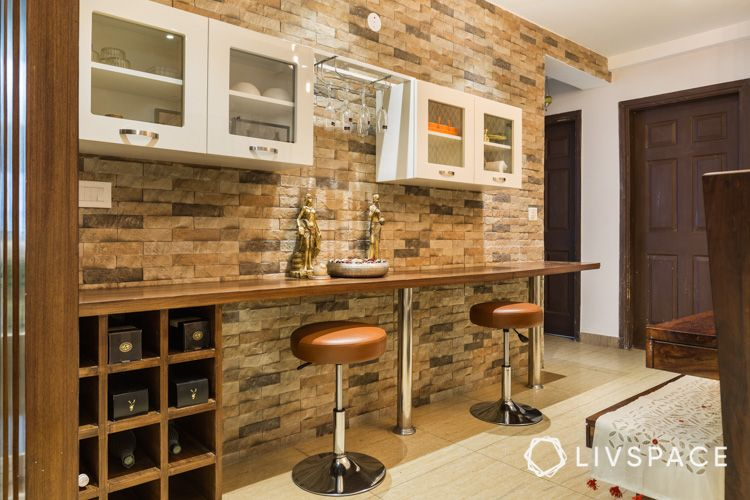 dining table-bar unit-stone cladding